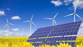 Chinese government encourage wind and solar power